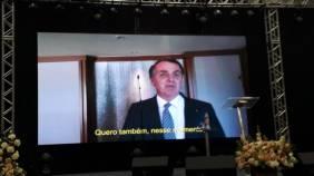 Saudação do presidente Jair Bolsonaro